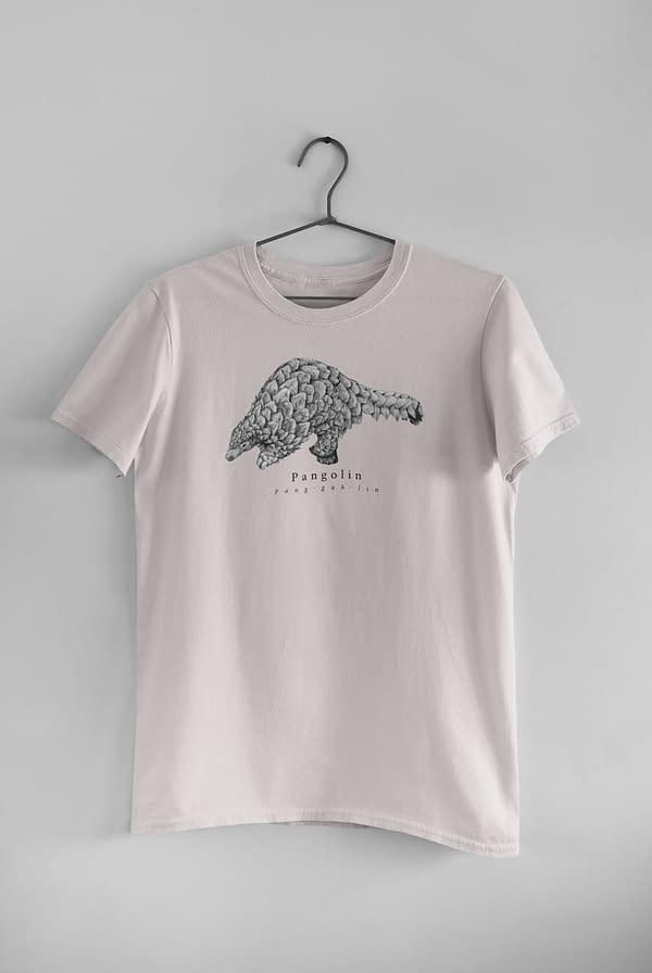 Misty Pink Pangolin T-Shirt | Pigments by Liv