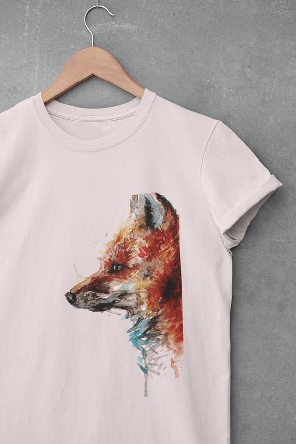 Misty pink fox t-shirt