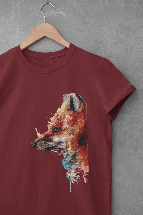 Dark red fox t-shirt