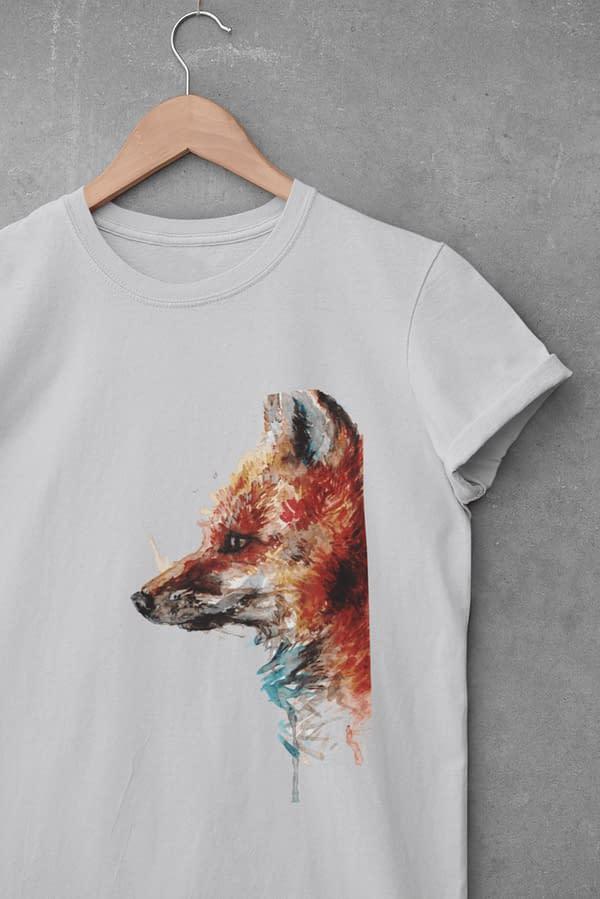 Light grey fox t-shirt