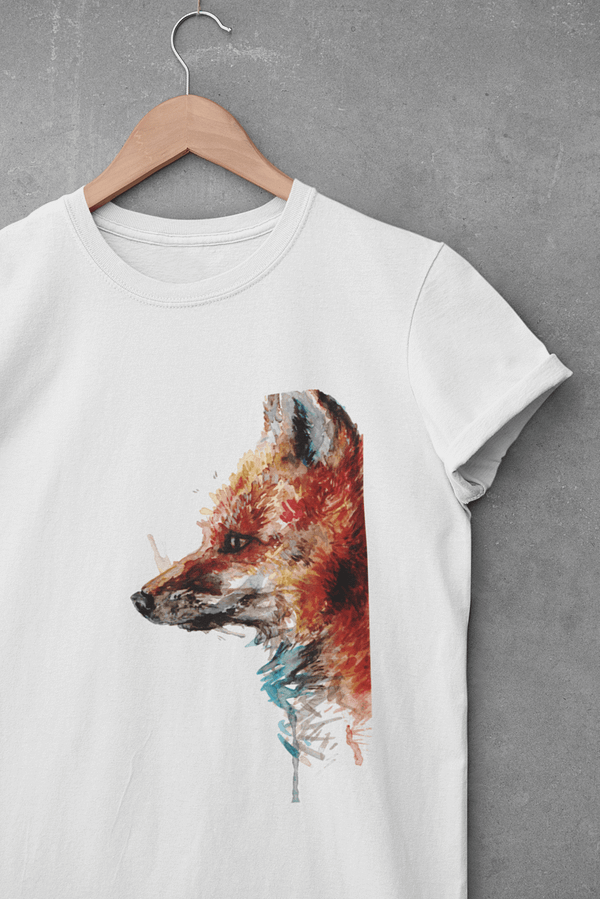 white fox t-shirt