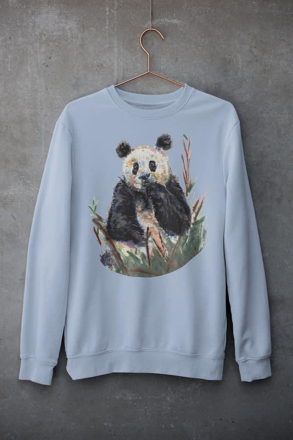 Blue Panda Sweatshirt   Pigments by Liv