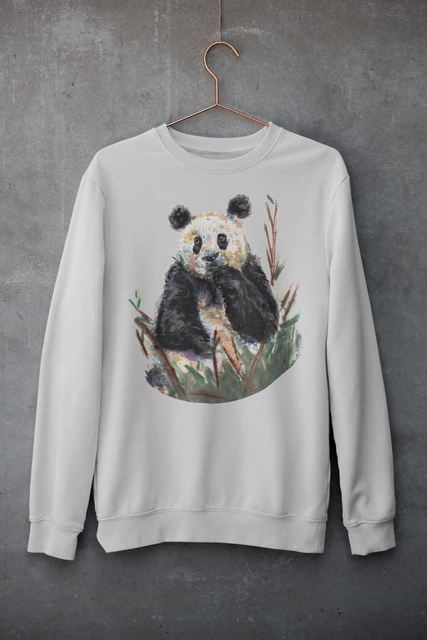 Grey Panda Sweatshirt   Pigments by Liv