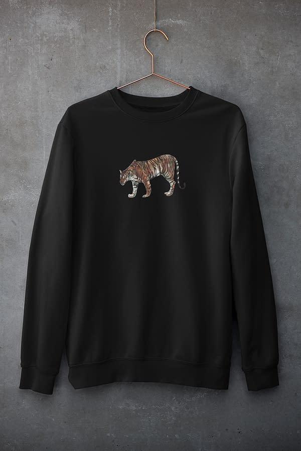 Black Limited Edition Tiger Sweatshirt   Pigments by Liv