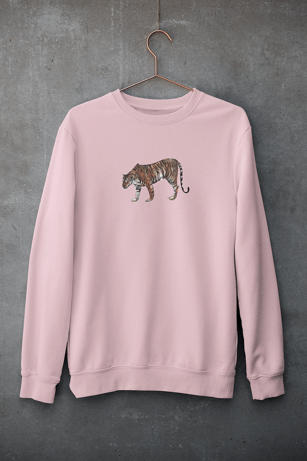 Cotton Pink Limited Edition Tiger Sweatshirt   Pigments by Liv