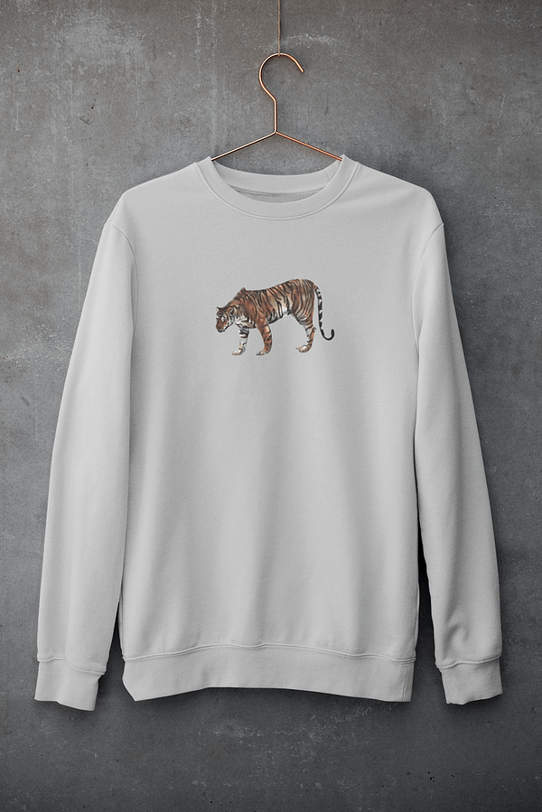 Heather Grey Limited Edition Tiger Sweatshirt   Pigments by Liv