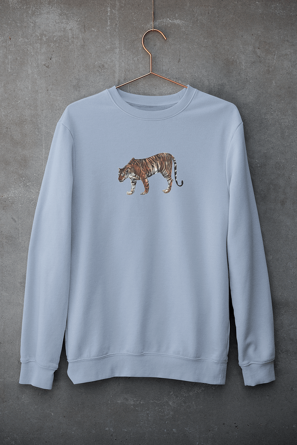 Sky Blue Limited Edition Tiger Sweatshirt   Pigments by Liv