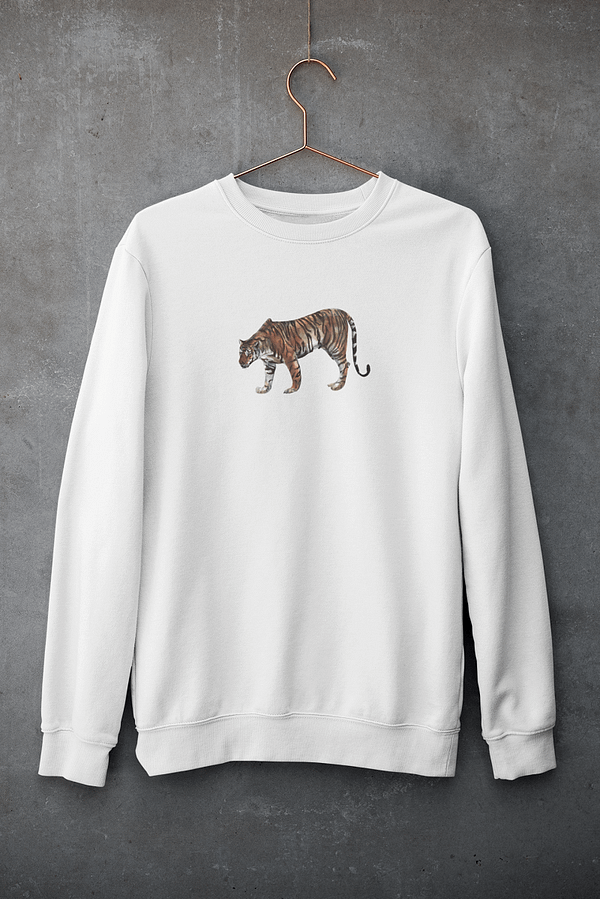White Limited Edition Tiger Sweatshirt   Pigments by Liv