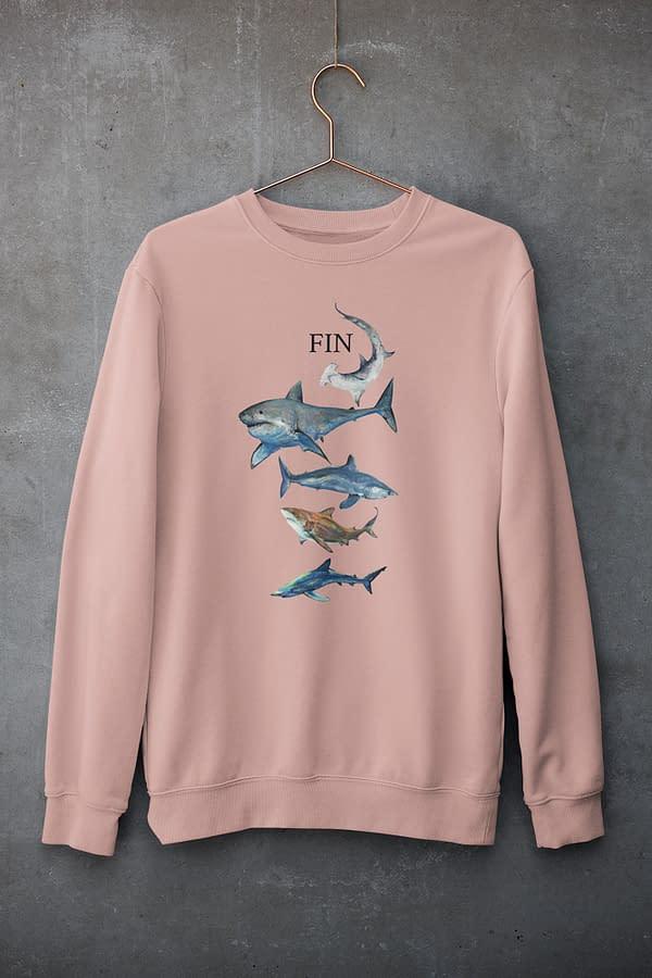 Canyon pink Shark Sweatshirt   Pigments by Liv