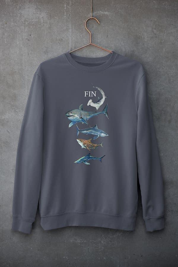 India Ink Shark Sweatshirt   Pigments by Liv