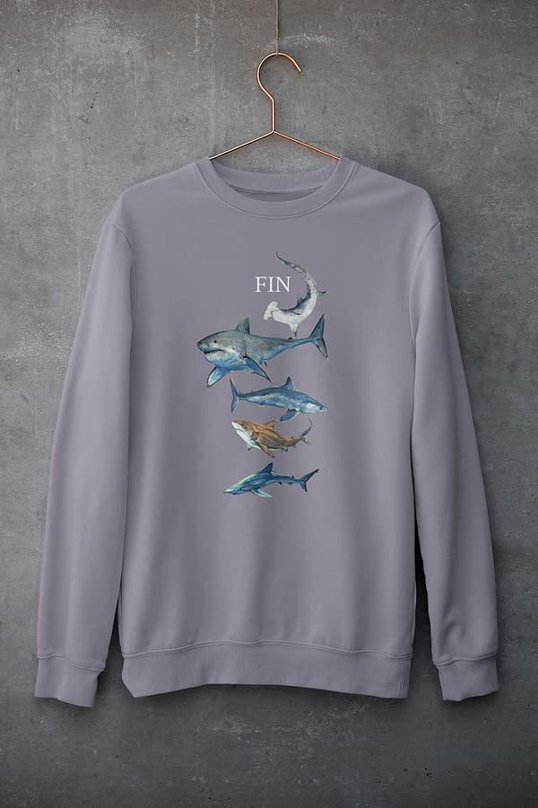 Lava Grey Shark Sweatshirt   Pigments by Liv