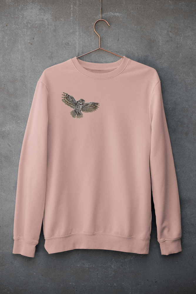 Canyon Pink Owl Sweatshirt | Pigments by Liv