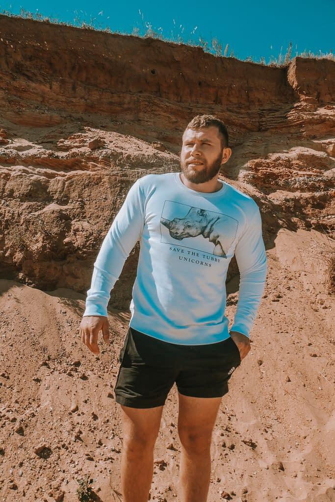 Rhino Sweatshirt | Save the Tubby Unicorns | Pigments by Liv