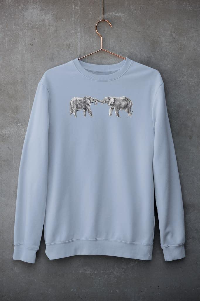 Sky Blue Elephant Sweatshirt | Pigments by Liv