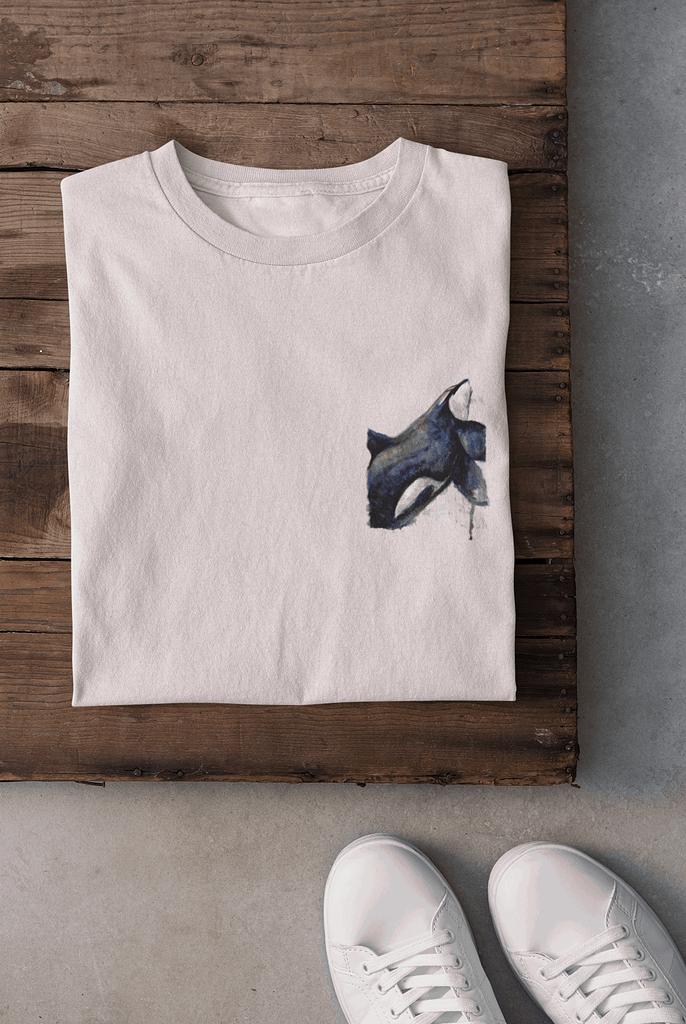 Misty pink pocket-sized orca t-shirt