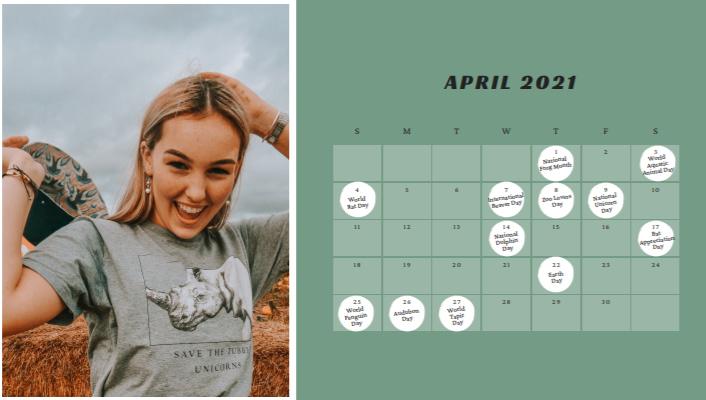 Animal Celebration Days 2021 Calendar | FREE DOWNLOAD | Pigments by Liv