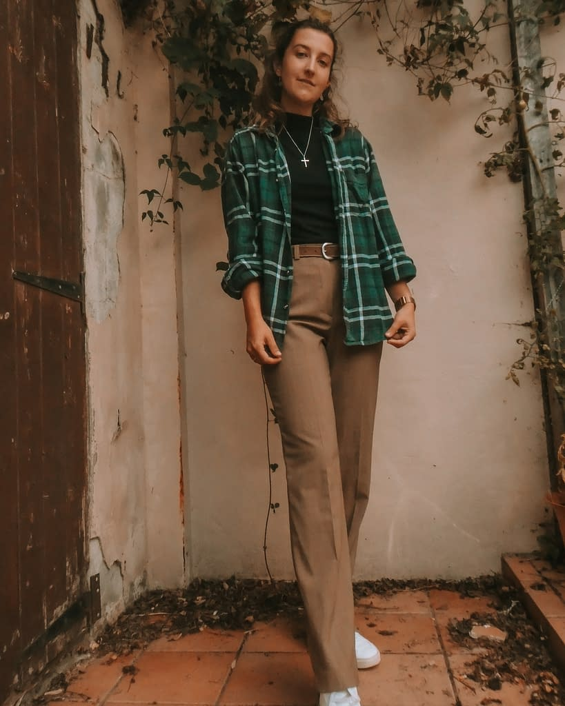 Layering flannels | Autumn outfit ideas | Pigments by Liv