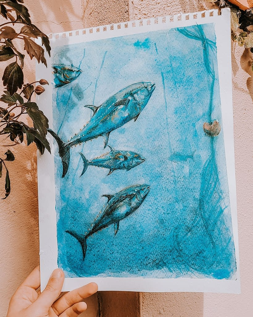 Bluefin Tuna Conservation | Pigments by Liv