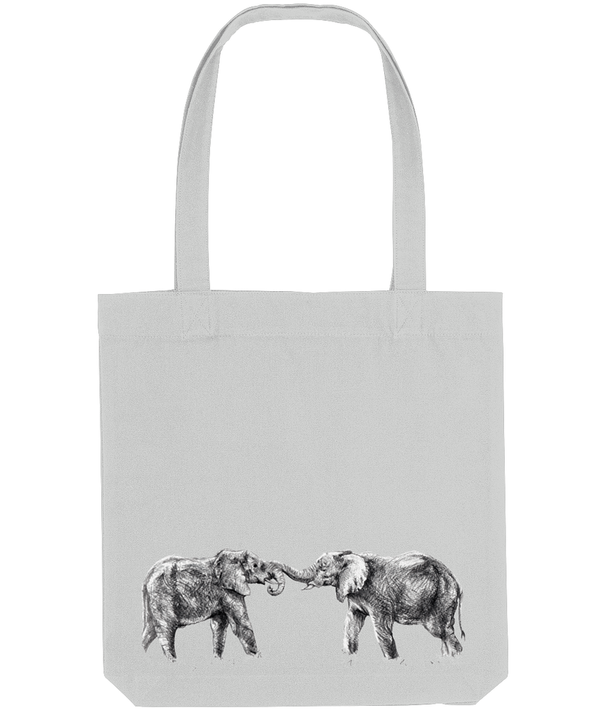 Grey Recycled Elephant Tote Bag | Pigments by Liv