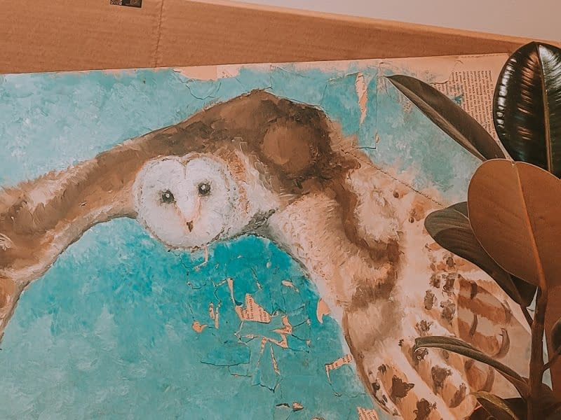 Owl oil painting | How to paint owls | Pigments by Liv