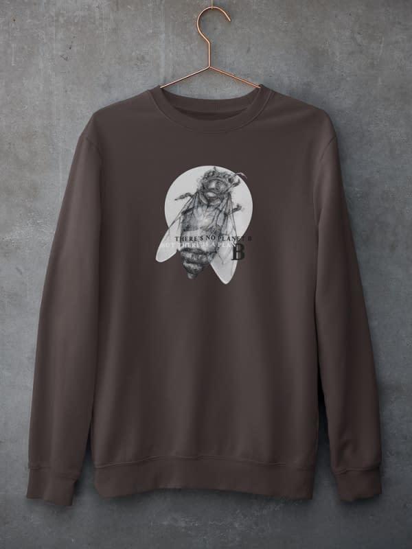 Deep Chocolate Honey Bee Sweatshirt   Pigments by Liv