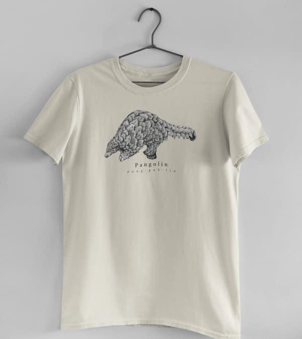 Ecru Pangolin T-Shirt | Pigments by Liv
