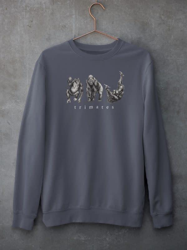 India Ink Grey Primate Sweatshirt | Pigments by Liv