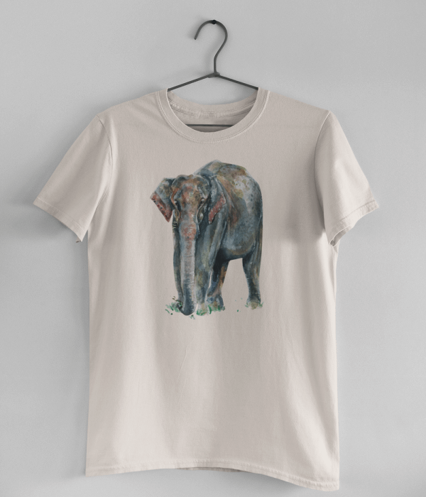 Misty Pink Asian Elephant T-Shirt   Pigments by Liv
