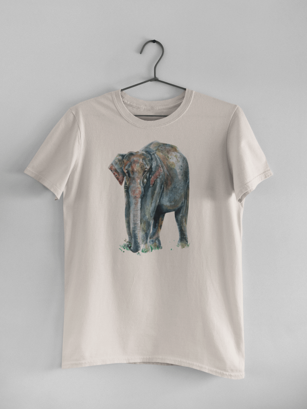 Misty Pink Asian Elephant T-Shirt | Pigments by Liv
