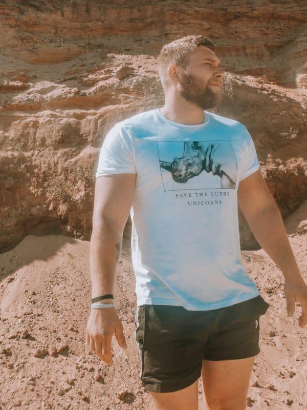 Rhino T-Shirt | Save the Tubby Unicorns | Pigments by Liv