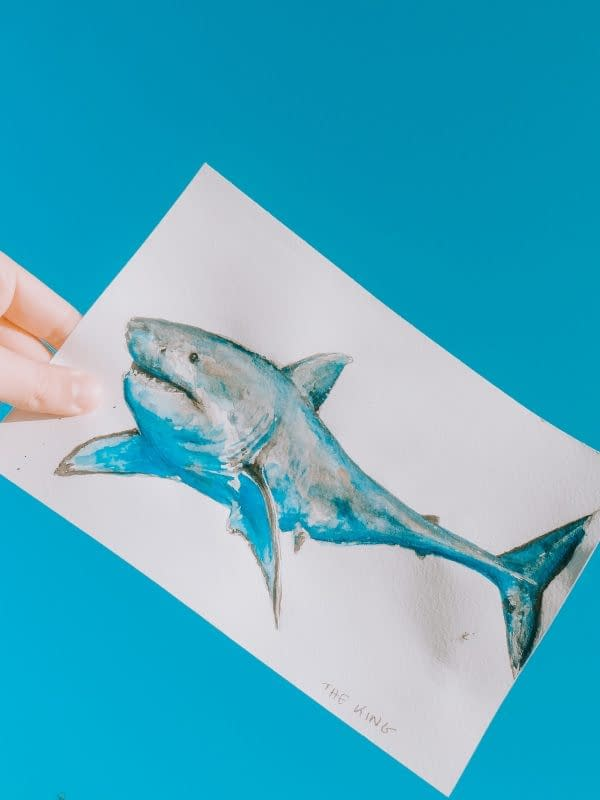 Great White Shark Art Print | Pigments by Liv