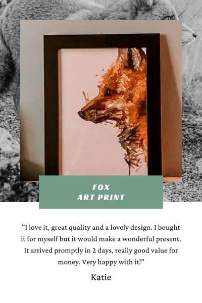 Fox Art Print | Watercolour A4 Matte | Pigments by Liv