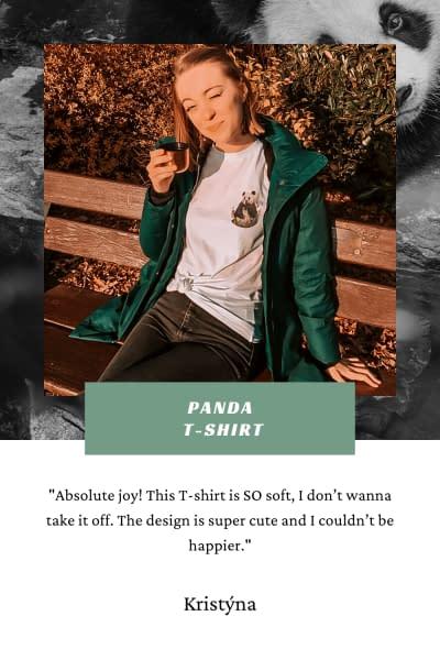 Panda T-Shirt | Pigments by Liv