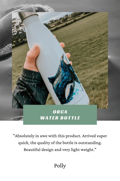 Pigments by Liv | Orca Water Bottle