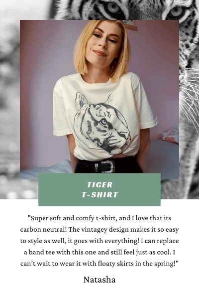 Tiger Animal Conservation T-Shirt | PIgments by Liv