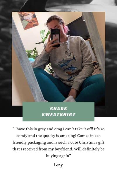 Shark Sweatshirt | PIgments by Liv