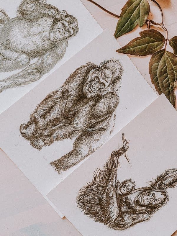 Primates art print | Pigments by Liv