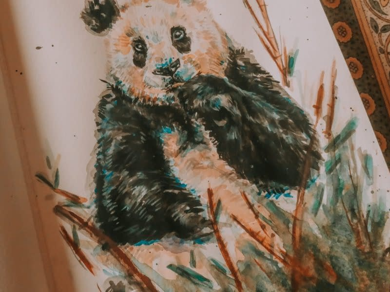 Step 11: Sign it | How to Watercolour: the Panda Art Print | Pigments by Liv