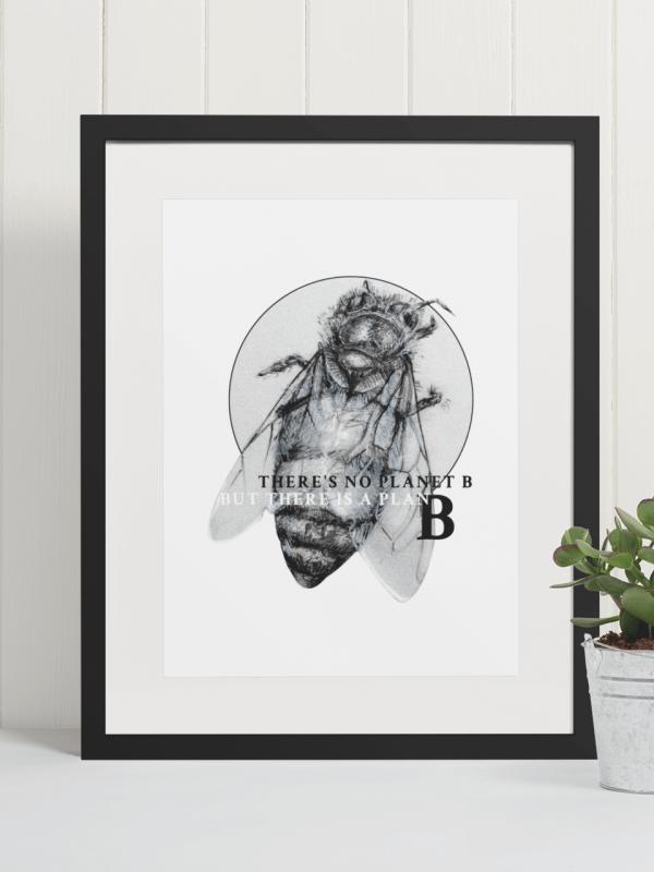 Honey Bee Art Print   Pigments by Liv